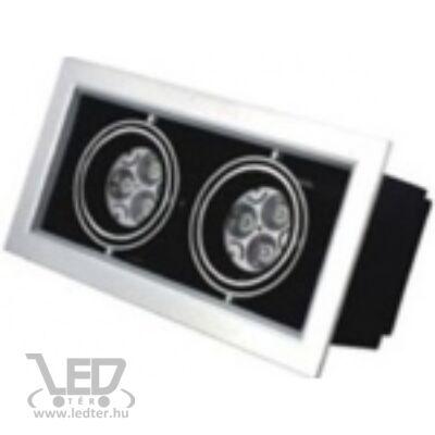 Beépíthető melegfehér-2700K 2x3x1W 540 lumen 45° LED szögletes mélysugárzó
