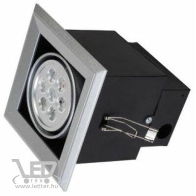 Beépíthető melegfehér-2700K 7x1W 630 lumen 45° LED szögletes mélysugárzó