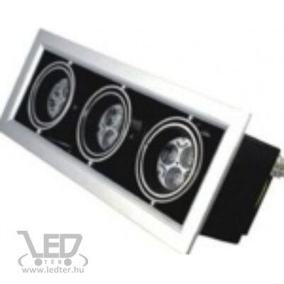 Beépíthető melegfehér-2700K 3x3x1W 810 lumen 45° LED szögletes mélysugárzó