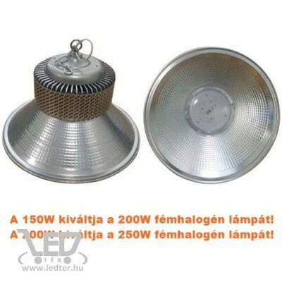 Középfehér-4000K 150W=200W 14150 lumen fémhalogént helyettesítő LED csarnokvilágító lámpa