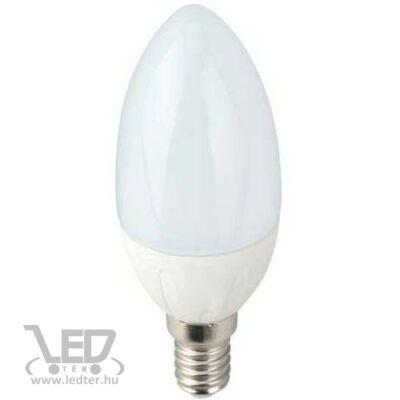 Középfehér-4200K 6W=60W 650 lumen Gyertya E14 LED izzó