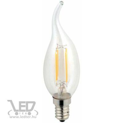 Középfehér-4200K 4W=40W 450 lumen Retro filament gyertya E14 LED izzó