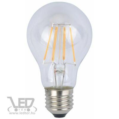 Középfehér-4200K 6W=60W 650 lumen Retro filament körte E27 LED izzó