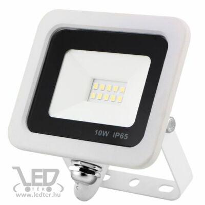 Led reflektor 10W, keskeny, fehér házban, IP65, vízálló. 1050 Lumen, 4000 kelvin, közép fehér.