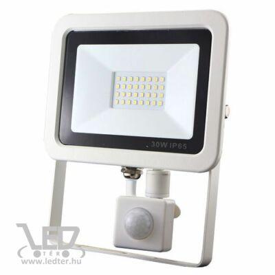 Középfehér-4000 30W=250W 3000 lumen Mozgásérzékelős LED reflektor fehér