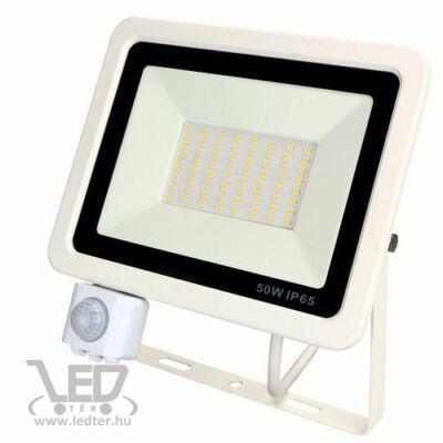 Középfehér-4000 50W=400W 5000 lumen Mozgásérzékelős LED reflektor fehér