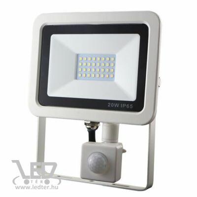 Hidegfehér-6300 20W=150W 2000 lumen Mozgásérzékelős LED reflektor fehér
