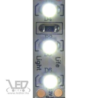 Hidegfehér 120 LED/m 2835 chip 9,3W 1100 lumen/m LED szalag