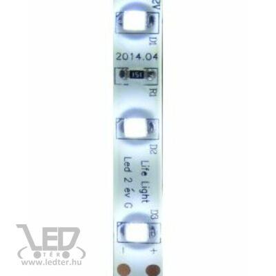 Hidegfehér 60 LED/m 2835 chip 4,8W 460 lumen/m vízálló LED szalag