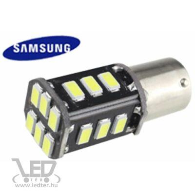Autós led BA15Y Canbus fék+helyzetjelző lámpa világítás, 18 led, 200 Lumen, 5730 chip, 2,5W, hideg fehér