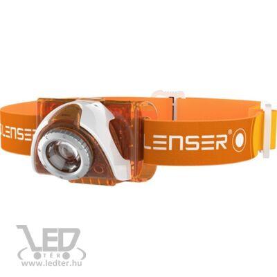 LedLenser SEO3 fejlámpa narancs 100lm