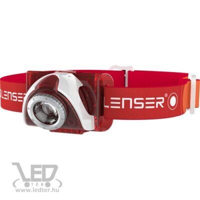 LedLenser SEO5 fejlámpa piros 180lm