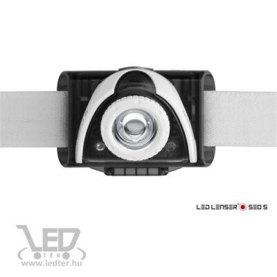 LedLenser SEO5 3xAAA 180 lm fejlámpa szürke bliszteres