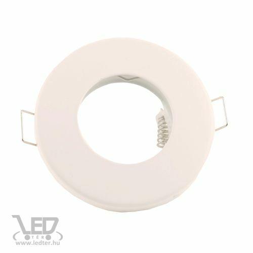 Beépíthető spot lámpatest alumínium kör alakú IP44 fehér