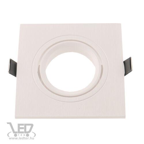 Beépíthető spot lámpatest műanyag négyzet alakú fehér