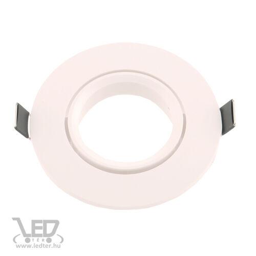 Beépíthető spot lámpatest műanyag kör alakú fehér