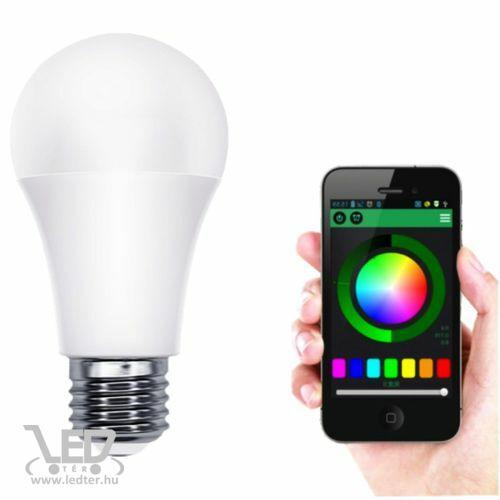 Színes LED körte RGBW 10W E27 wifi-s