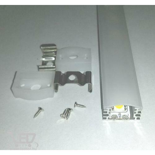 Alusín szett IP65 vízálló 1m sín + tejes takaró + 2 db rögzítő + 2 db végzáró