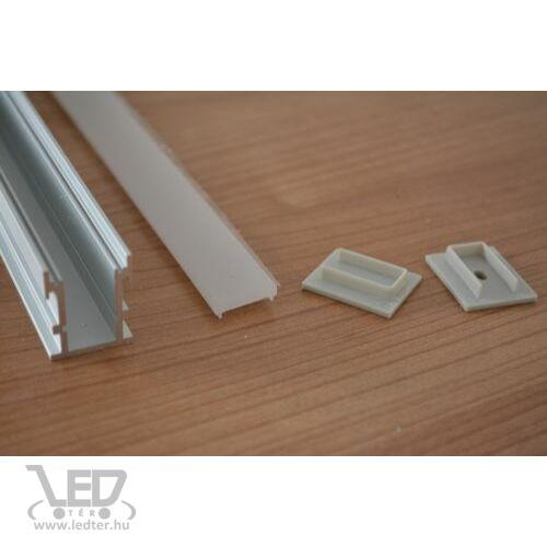 Alusín szett lépésálló IP65 vízálló kivitel tejes takaróval 2 db végzáróval 8-10 mm-es LED szalaghoz