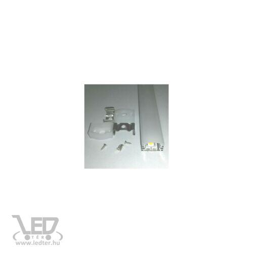 Alusín szett IP65 vízálló 2m sín + tejes takaró + 4 db rögzítő + 2 db végzáró