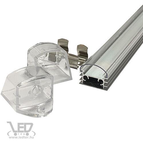 Alusín szett IP44 vízálló 2m sín + átlátszó takaró + 4 db rögzítő + 2 db végzáró