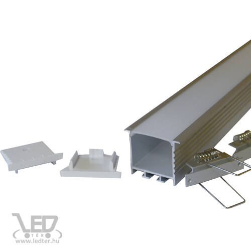 Design dupla LED szalagos alusín szett 2m sín + tejes takaró