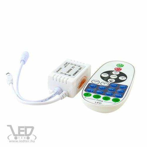 Egyszínű LED szalag vezérlő 72W dimmer 11 gombos infrás