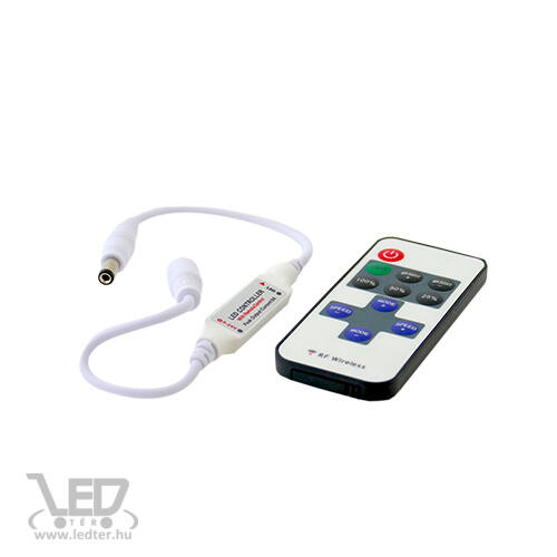Egyszínű LED szalag vezérlő 72W dimmer 11 gombos rádiós