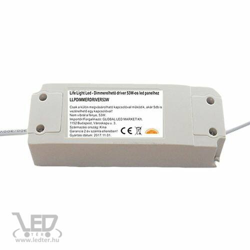 Dimmelhető driver LED panelhez 53W 1200mA 27-42V