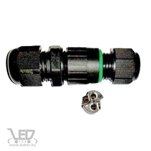 IP67 kötődoboz henger 10A maximum 2x1mm vezetékhez
