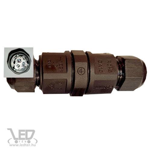 IP67 kötődoboz henger LED reflektorhoz 3x2,5mm vezetékhez