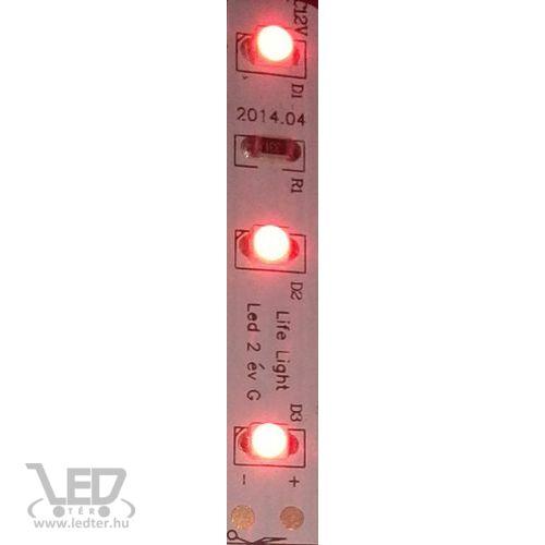 Beltéri piros 60LED/m 2835 chip 4.8 W 70 lm/m LED szalag