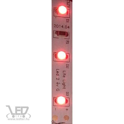 Beltéri piros 60LED/m 2835 chip 4.8 W 50 lm/m LED szalag