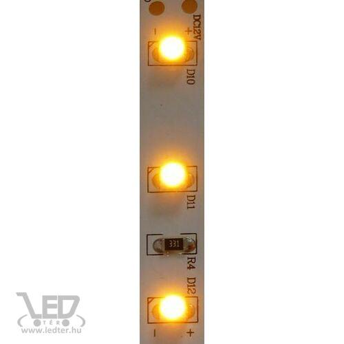 Beltéri sárga 60LED/m 2835 chip 4.8 W 40 lm/m LED szalag