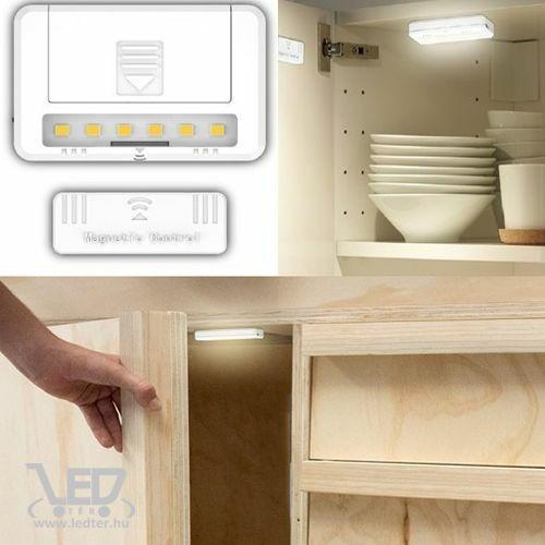 Mágneses LED szekrényvilágítás középfehér 0,8W 60 lumen