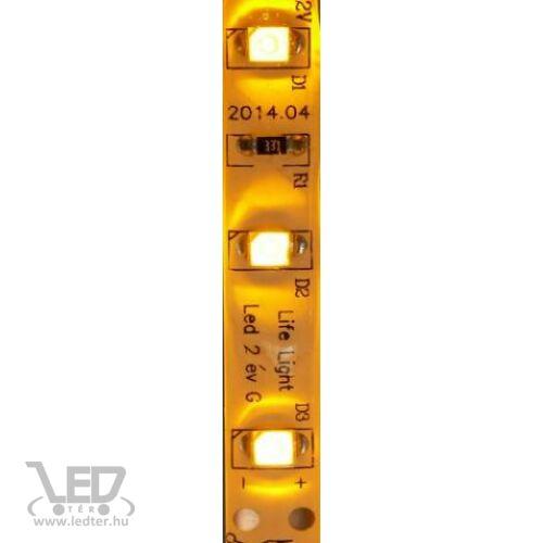 Kültéri sárga 60LED/m 2835 chip 4.8 W 44 lm/m LED szalag