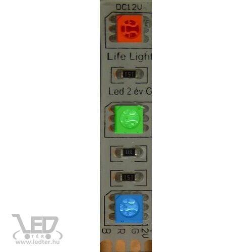IP68 vízálló RGB 60LED/m 5050 chip 14.4 W 650 lm/m LED szalag