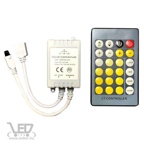 72W Led szalag vezérlő, infrás, kétszínű /hideg-meleg fényű/ led szalaghoz
