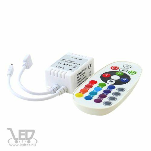 RGB LED szalag vezérlő 72W infrás 24 gombos
