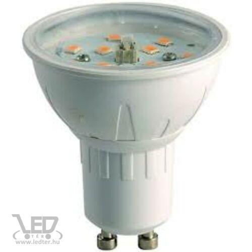 Melegfehér-2700K 4W=40W 390 lumen Átlátszó burás GU10 LED izzó