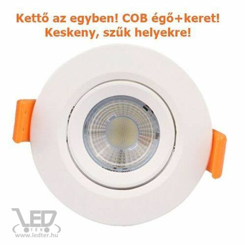 COB LED spot lámpatest kör alakú melegfehér 7W 700 lumen
