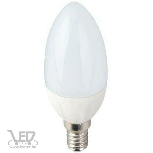 Melegfehér-2700K 6W=60W 620 lumen Gyertya E14 LED izzó