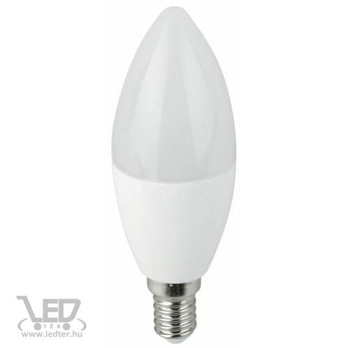Melegfehér-2700K 7W=60W 710 lumen Gyertya E14 LED izzó