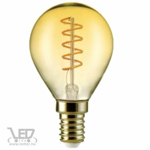 Filament kisgömb E14 LED izzó extra melegfehér 4W 350 lumen