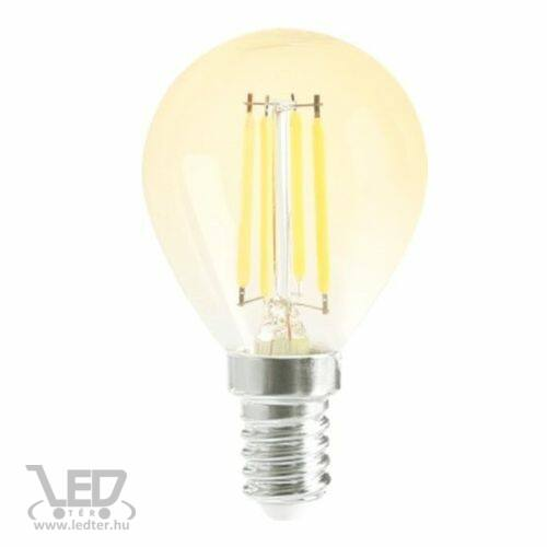 Filament gyertya E14 LED izzó extra melegfehér 6W 500 lumen