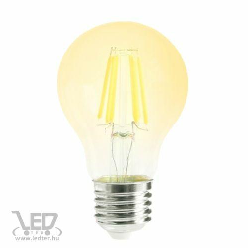Filament kis körte E27 LED izzó extra melegfehér 6W 500 lumen