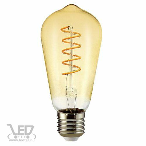 Filament hosszú körte E27 LED izzó extra melegfehér 6W 500 lumen