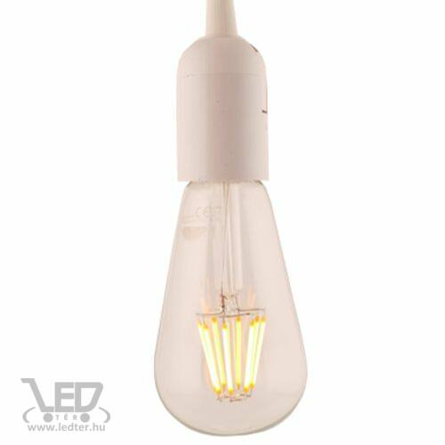 Filament retro E27 LED izzó melegfehér 8W 880 lumen