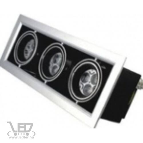 Szögletes LED mélysugárzó melegfehér 9W 810 lumen