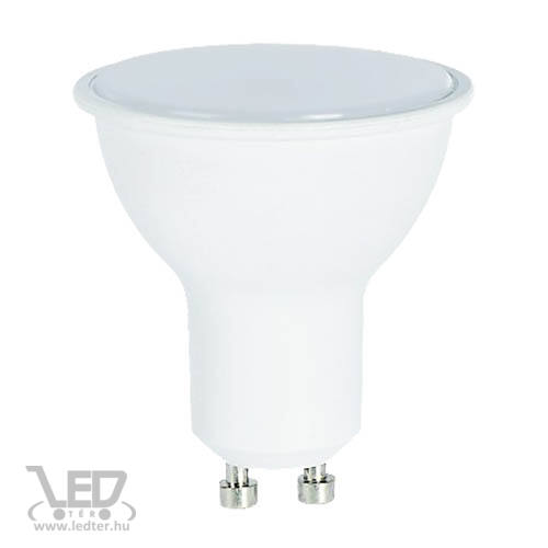 Középfehér-4000 8W=60W 720 lumen Tej burás GU10 LED izzó